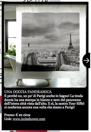 tenda doccia parigi