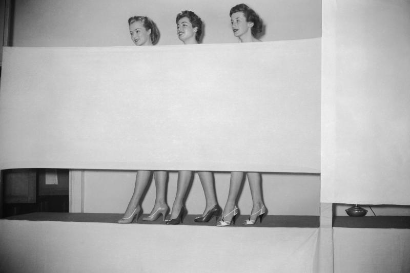 Prime modelle per scarpe-mostra parigi